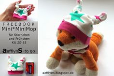 Mini*MiniMop Mütze für Frühchen, Puppen und Sternenkinder - Sternchengröße: KU 20-27 / Frühchengröße: KU 28-35