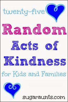 Ideas for acts of kindness for kids
