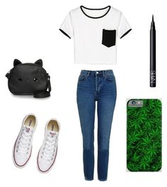"""""""Untitled #39"""" by fropo16 ❤ liked on Polyvore featuring Loungefly, Topshop, Converse and NARS Cosmetics"""