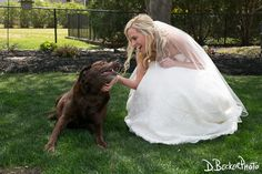 D. Becker Photo (973) 579-5515 #bride and her #dog #weddings #weddingphotos #njweddingphotographer #dbeckerphoto
