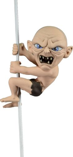 Gollum scaler figure. Hang this lil Gollum from your earbud cables or other cords. Great for any Hobbit / LOTR fan.
