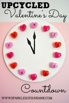 Any valentine would look forward to St. Valentine's Day with 14 days of treats in this Upcycled Valentine's Day Countdown from Sparkles of Sunshine.