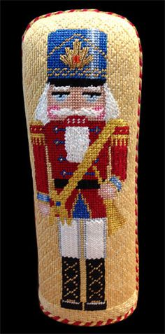 needlepoint soldier nutcracker stand-up from The Nimble Needle