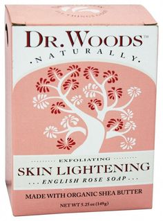 Dr. Woods - Skin Lightening Bar Soap English Rose - 5.25 oz. #PimplesUnderTheSkin