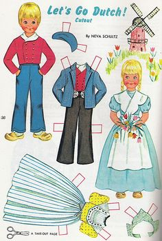 Paper Dutch Dolls