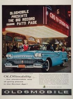 """The redesigned exterior of the 1958 Oldsmobile strayed away from popular designs of the time to make the car a stand out in the """"Rocket Age."""""""