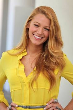 golden. blonde. beautiful. color. blake lively. summer