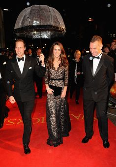 War Horse premiere - Prince William carries an umbrella for Kate