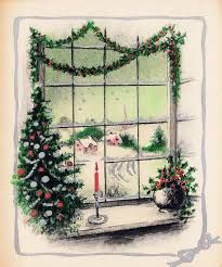 Image result for landscape vintage christmas cards