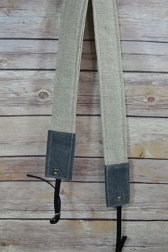 French Linen, Waxed Canvas Camera Strap, narrow / foam padded /  Darby Mack / dslr gear / photography / Grey & Stone / natural minimalist