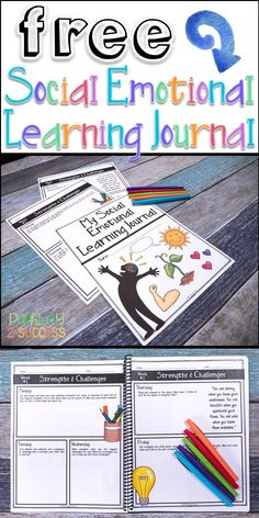 Social Skills 644929609116198798 - Love this FREE Social Emotional Learning Journal to help kids learn about their own strengths and challenges. This include 5 daily prompts to help kids develop social emotional skills. Elementary Counseling, Counseling Activities, School Counselor, Learning Activities, Kids Learning, Elementary Schools, Articulation Activities, Therapy Activities, Central Elementary School