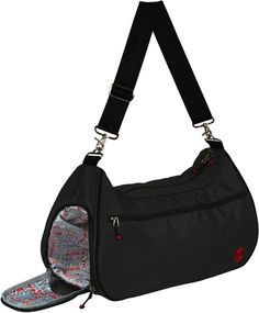 Live Well 360 gym bag: Vented shoe compartment that doubles for storing sweaty clothes. Would be great for making a workout at the Ritchie Center possible before/after class.