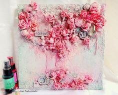 Scrap Around The World: Photo Tutorial by Jaya Raghuvanshi {Design Team 'Moment To Shine' } Altered Canvas, Altered Art, Mixed Media Canvas, Mixed Media Art, Mix Media, Finnabair Mixed Media, Cool Journals, Art Journals, Mixed Media Tutorials