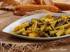Bastoncini di zucchine impanate al forno