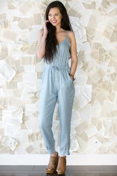 Chambray Jumpsuit... need!