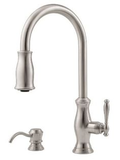 Pfister Hanover 1-Handle Pull-Down Kitchen Faucet with Soap Dispenser, Stainless Steel