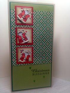 Santa Christmas Card by AmysCreativePursuits on Etsy