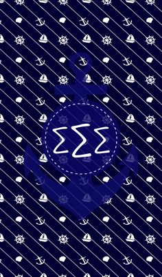 Nautical/Sigma Sigma Sigma iPhone monogram background