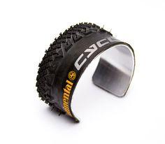 Recycled Bike Tire Cuff Bracelet