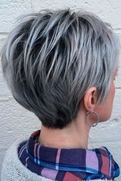 Sophisticated and Silver Haircuts for Short Hair