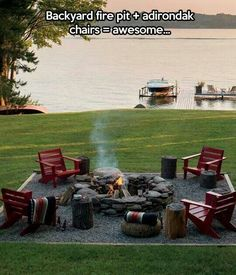 Firepit area for terrace or by the creek