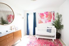 Adelaide's nursery was the most fun room to put together! I took my time piecing things together over the last couple of months and I really love how it turned out. Early on, even when it was just the bright rug, the large mirror, and the midcentury dresser, this room was my favorite. It …