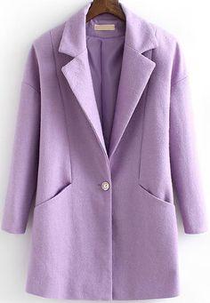 Shop Purple Lapel Long Sleeve Pockets Woolen Coat online. Sheinside offers Purple Lapel Long Sleeve Pockets Woolen Coat & more to fit your fashionable needs. Free Shipping Worldwide!
