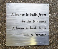 Custom Metal Sign- Your Own Quote or Words - Personalized Metal Wall Decor Own Quotes, Be Yourself Quotes, Metal Wall Decor, Metal Wall Art, Custom Metal Signs, Metal Projects, Art Projects, Project Ideas, 3d Laser