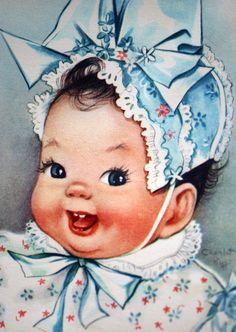 RARE Charlot BYJ 1950s Vintage Extra Fussy Birthday Greetings Card (B1)