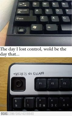 The day I lost control! (although not written rite)