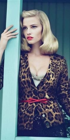 Lara Stone by Mert Marcus styled by Grace Coddington for Vogue US September 2010
