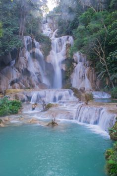Photos taken in, around, and between Luang Prabang and Vang Vieng, Laos. Waterfalls, moutains, markets, art, and amazing scenery from this beautiful country.