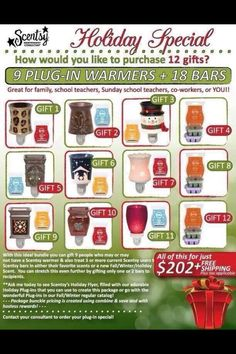 What a great deal for Christmas!!!!!   https://melaniemorrison.scentsy.us