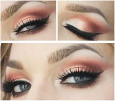 Sunset Copper Eye Makeup Tutorial | 7 Spring Makeup Looks To Inspire You, check it out at http://makeuptutorials.com/spring-makeup-looks-makeup-tutorials