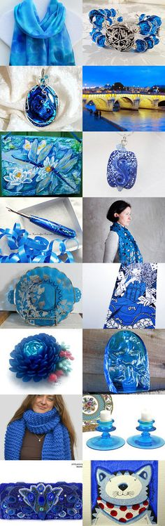 BRIGHT BLUE LOVES PARIS by Vickie Wade on Etsy, www.PeriodElegance.etsy.com #etsygifts #bluegifts