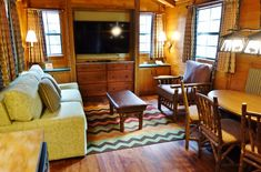 Refurbed Living Room at the Cabins at Fort Wilderness from yourfirstvisit.net
