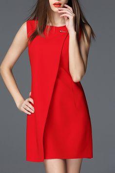 Skew Slit Mini Dress #fashionismypassion