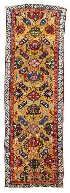 VAN-HAM Kunstauktionen Alpan-Kuba, East Caucasus.  19th C. 320 x 108cm.