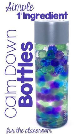 I'm making a few of these Calm Down Bottles this weekend! #copingskills #sensory