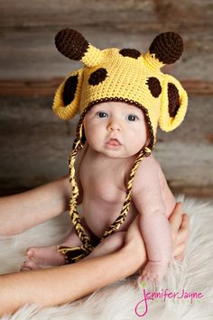 This adorable Giraffe crochet hat-free pattern is easy to make follow a long very detail tutorial and have fun dress up your little one in the hat.