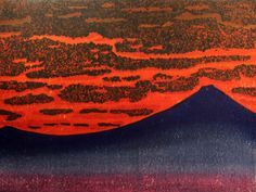 HAGIWARA,Hideo[36 Mt.Fuji – colored sky]