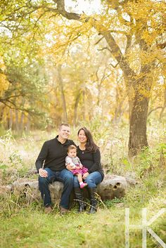 Fall family photos.  Family of 3, soon to be a family of 4.