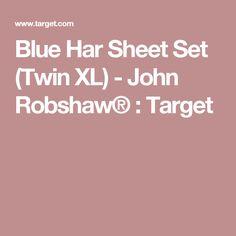 Blue Har Sheet Set (Twin XL) - John Robshaw® : Target