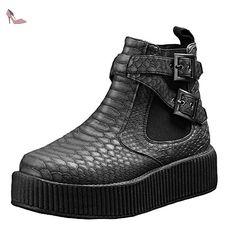 T.U.K Shoes , Chaussures de ville à lacets pour femme Noir noir - Chaussures tuk (*Partner-Link)