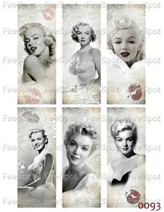 UNIQUE MARYLIN MONROE COLLECTIBLE LOT OF 8 MATCH BOXES in random assorted way