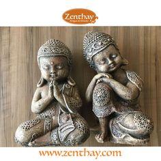 Lindos Buda bebês, rezando e pensador. Tem lá na Zenthay.com - Passa lá e garanta o seu!