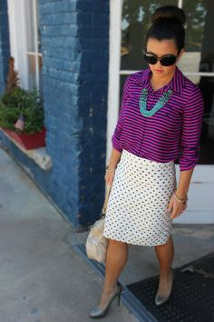 Pattern mixing with pops of color
