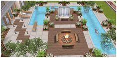 Casas The Sims Freeplay, Sims Freeplay Houses, Sims Free Play, Sims House Design, Apartment Floor Plans, House Layouts, Sims 3, House Plans, Architecture