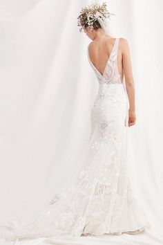 willowby by watters spring 2019 bridal sleeveless v neck full embellishment romantic fit and flare wedding dress v back medium train bv -- Willowby by Watters Spring 2019 Wedding Dresses V Neck Wedding Dress, Classic Wedding Dress, Boho Wedding Dress, Mermaid Wedding, Lace Wedding, Wedding Gowns, Wedding Venues, Dream Wedding, V Neck Fit And Flare Wedding Dress