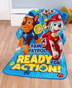 $16.98 - Add personality to a child's room with a Licensed Character Plush Fleece Throw. With a colorful image of a favorite character, it's sure to delight your little